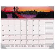 Visual Organiser Harbour Views Monthly Desk Pad