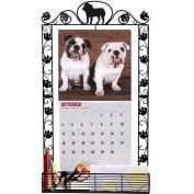 Bulldog Metal Calendar Frame by DogBreedStore.com