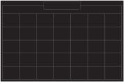 Wallies 16058 Monthly Chalk Calendar