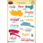 JustRite Papercraft Clear Stamp Set 15cm x 20cm -Colourful Brush Strokes