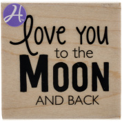 Mounted Rubber Stamp 6.4cm x 6.4cm -To The Moon & Back