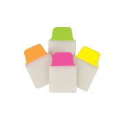 Avery Mini Ultra Tabs, 2.5cm x 3.8cm , 80 Repositionable Tabs, Two-Side Writable, Neon Pink/Yellow/Green