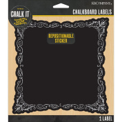 Chalk It Now Chalkboard Large Label-Decorative Square