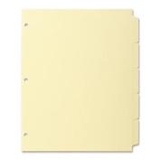 Business Source Plain Tab Index - Write-on - 22cm x 28cm - 36 / Box - Canary Tab