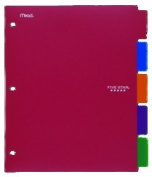 Acco Brands Usa Llc 20040 Five Star Write On-Wipe Off Poly Tabbed Dividers 9.18x11 Asst