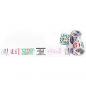 Genesis Washi Tape 3.8cm X9.1m-Word Art
