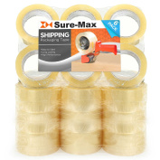 Sure-Max Shipping Packaging Tape 2.0 mil 7.6cm Wide x 100m (110 yards) - Clear - 1 Case