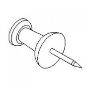 MINTCRAFT PH-122262 Clear Push Pins