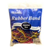 Bazic Products Rubber Bands Assorted Size And Colour 12-60ml bags