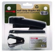 Officemate International Corp 97744 Recycled Plastic Stapler Half Strip-Kit 1.5x5x4.08 Black