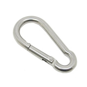 Scuba Choice Scuba Boat Marine Clip Stainless Steel Safety Spring Hook Carabiner, 6cm