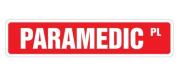 PARAMEDIC Street Sign emergency medical tech emt gift