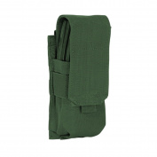 Voodoo Tactical MOLLE Single Rifle Mag Pouch, Holds 2 Magazines, Olive Drab