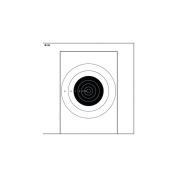 Law Enforcement Targets B-16 25 Yard Slow Fire Bullseye On Tagboard Paper 10.5x1
