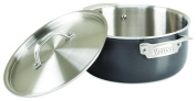 Viking 40021-0325 Hard Anodized Dutch Oven 5-Ply with Stainless Steel Interior, 4.7l, Silver