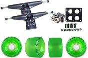 Core 6.0 Black Longboard Trucks Wheels Package Bigfoot 70mm Pathfinders Green