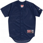 "Rawlings RYBBJ67 Youth ""Double Play"" Baseball Jersey Navy XL"