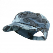 Enzyme Regular Solid Army Caps-Blue Camouflage
