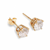 0.5 Carat 14K Solid Gold Stud Earrings 0.50 Carat Natural Diamond