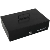 First Alert 3026F Deluxe Steel Cash Box with Money Tray