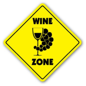 WINE ZONE Sign xing gift novelty vineyard lover drinker liquor
