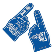 We're Number #1 Finger Team Colour Cheerleading Foam Hand