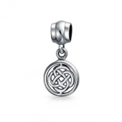 Bling Jewellery 925 Silver Round Celtic Knot Dangle Bead. Charm