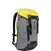 Incase Halo Courier Backpack for 43cm Laptop, Heather Grey/Black/Yellow