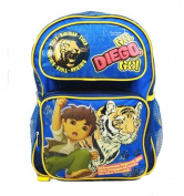 Medium Backpack - Go, Diego, Go! - Tiger New School Bag Book Boys 41008