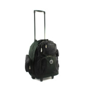Transworld Roll-Away Deluxe Rolling Backpack - Black
