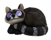 Adorable Solar Eyes Raccoon LED Accent Light Statue