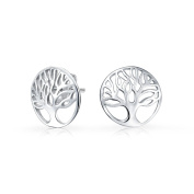 Bling Jewellery 925 Sterling Silver Round Celtic Tree of Life Stud Earrings
