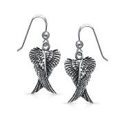 Bling Jewellery Angel Wings Dangle Earrings 925 Sterling Silver