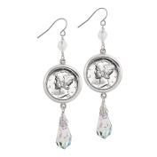 Mercury Dime Crystal Drop Earrings
