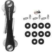 Keysmart 2.0 Premium Extended Key Holder w/ Expansion Pack (2-22 Keys) - Black