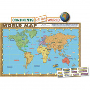 Teacher Created Resources 4410 World Map Repositionable Bulletin Board Display Set