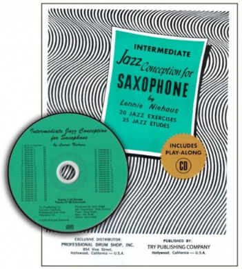 TRY1059 - Intermediate Jazz Conception Saxophone - 20 Jazz Exercises 25 Jazz Etudes - Book/CD