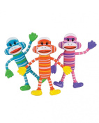 12PC Assorted Bendable Classic Sock Monkey Toy Party Favour Gift Costume Accessory