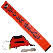 Scuba Choice 1.2m Surface Marker with Pouch, Whistle and 11m String