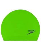 Speedo Solid Latex Swim Cap Bright Green