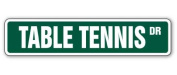 TABLE TENNIS Street Sign ping pong game room paddles