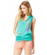 Aeropostale Womens Splatter Muscle Hoodie Sweatshirt 978 L