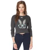 Aeropostale Womens Bunny Crop Sweatshirt 003 XL