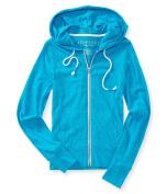 Aeropostale Womens Solid Hoodie Sweatshirt 140 S