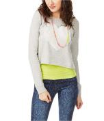 Aeropostale Womens Raglan Rhinestone Heart Sweatshirt 052 S