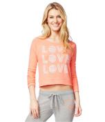 Aeropostale Womens LOVE Trio Sweatshirt 884 XL