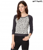 Aeropostale Womens Leopard Print Sweatshirt 001 XL