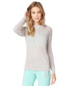 Aeropostale Womens Striped Knit Hoodie Sweatshirt 088 S