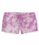 Aeropostale Womens Tie-Dye Shorty Casual Denim Shorts 527 5/6