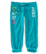 Aeropostale Womens Slim Cinchri Glitter Dorm Pyjama Lounge Pants 160 S/26
